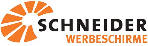 logo schneider werbeschirme